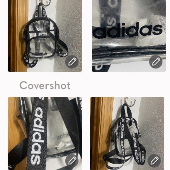 Adidas mini backpack clear w logos 8.5x7.5x3.5D
